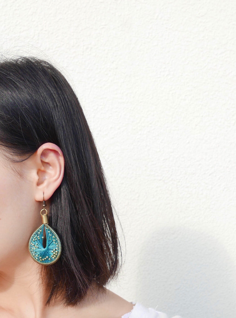 Drop Earrings Not Bombs - Drops (Bosphorous - Teal)