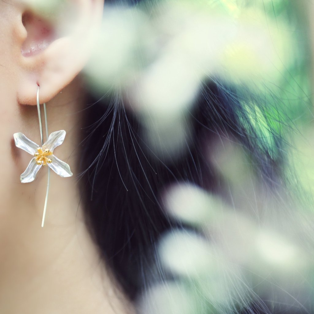 Flower Earrings (#L)
