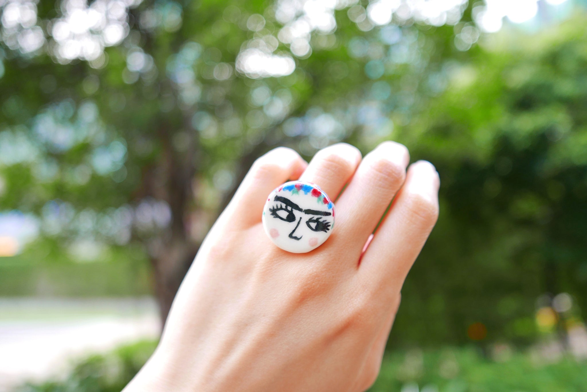 Frida Kahlo Ceramic Ring