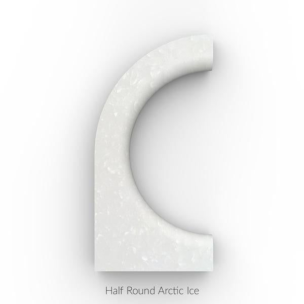 North / South Bracelet (Staff Pick) - Arctic Ice [Half Round] / Milky Way [Half Round]