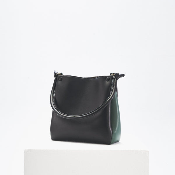 Mini Two-Tone Tote (black & thyme)