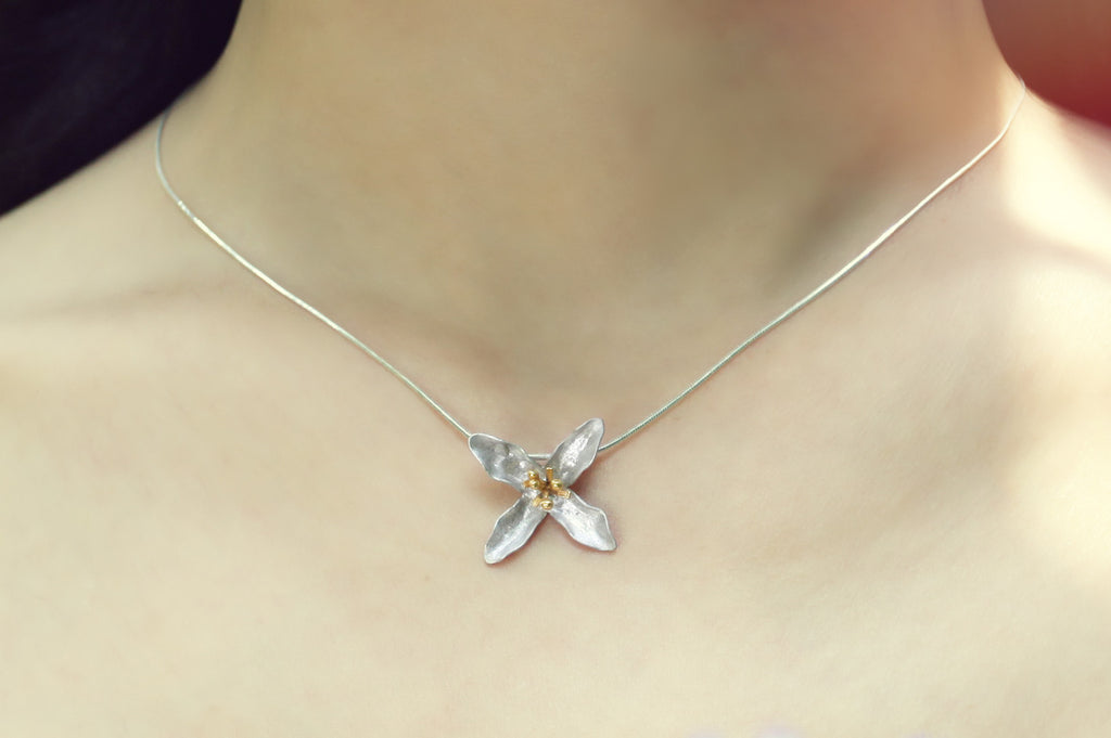 Flower Necklace (#L)