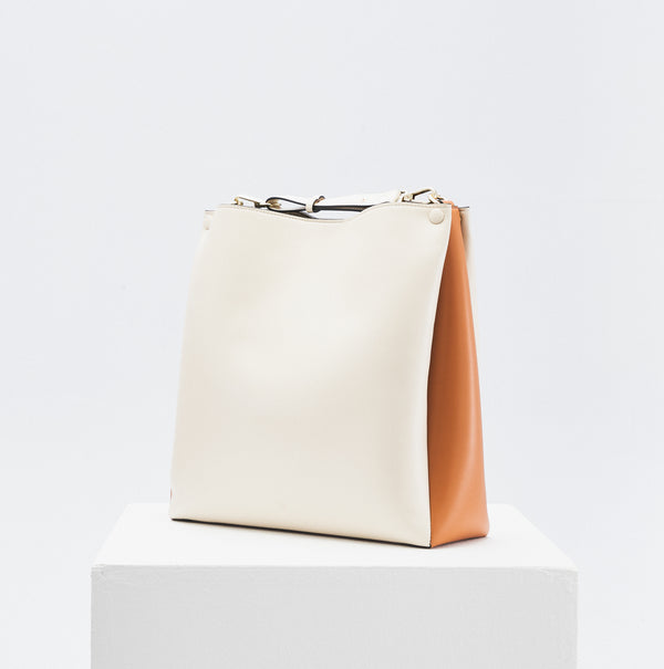 Two-Tone Tote (oat & caramel)