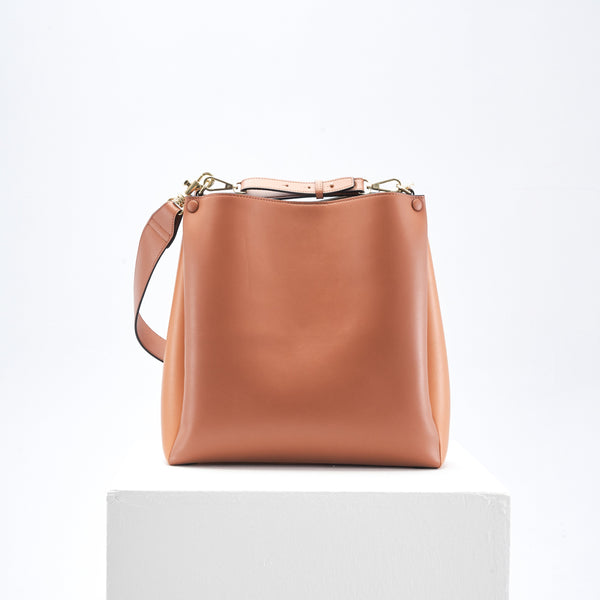 Two-Tone Tote (caramel & tan)