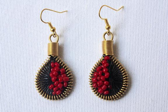 Drop Earrings Not Bomb - Seeds (Tango)