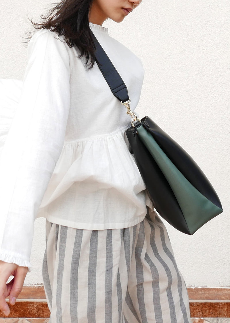 Two-Tone Tote (black & thyme)