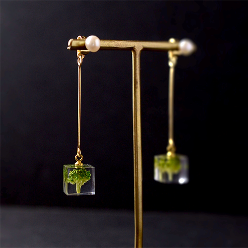 The Great Nature Earrings - Broccoli (drop | pearl studs)