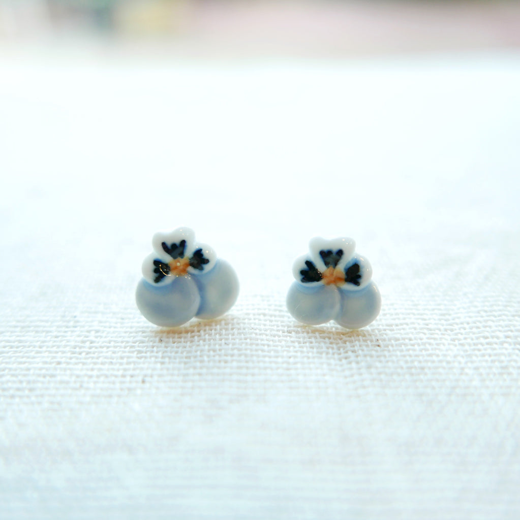 Blue Ladybird Ceramic Earrings