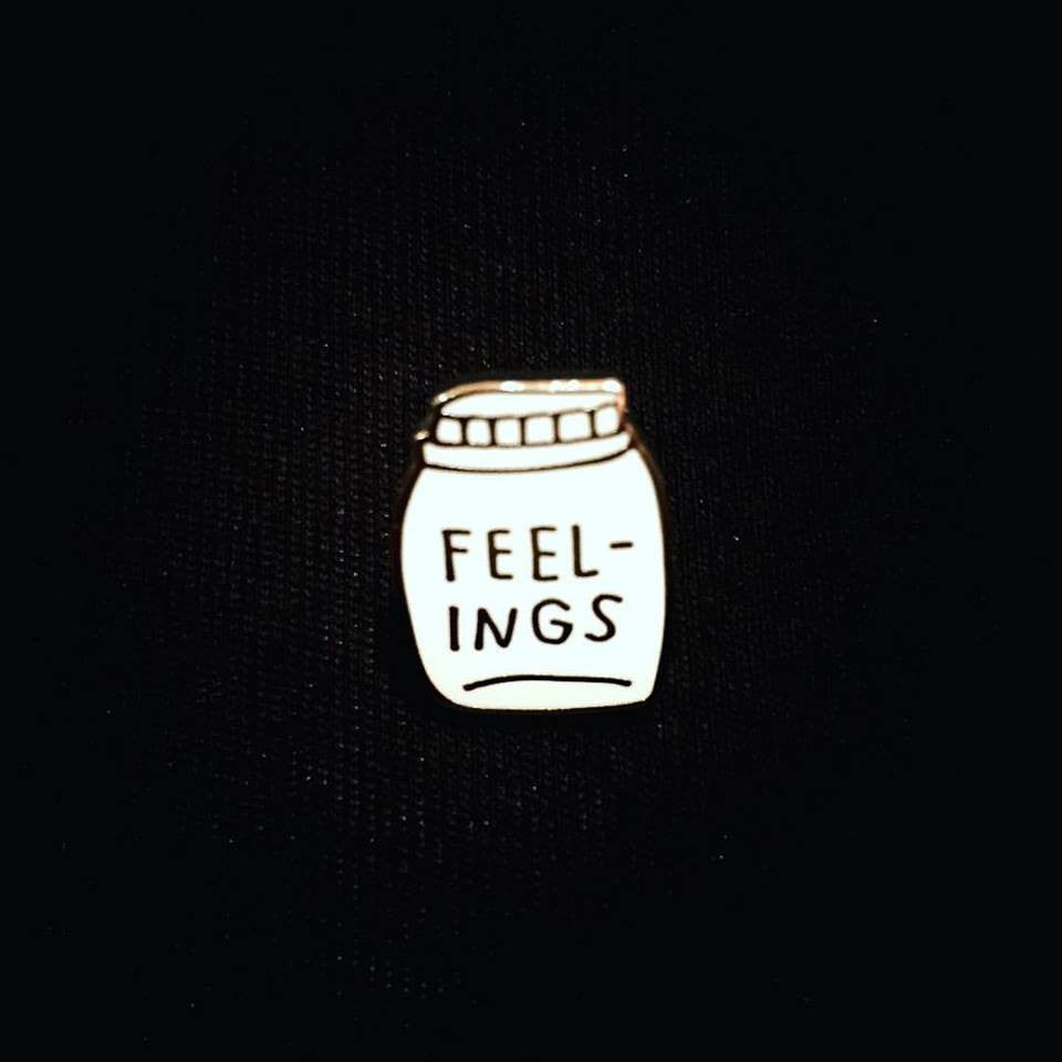 Bottled Up Feelings Enamel Pin