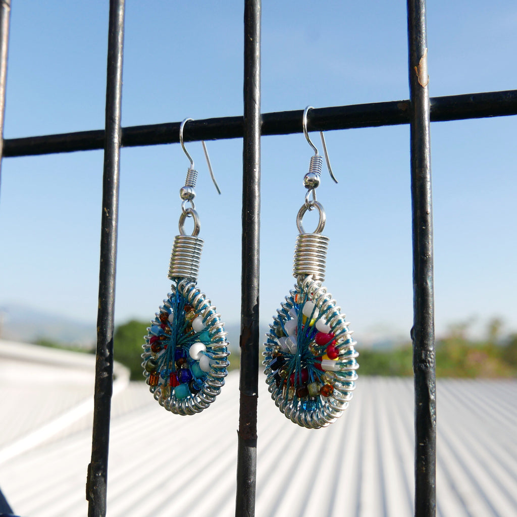 Drop Earrings Not Bomb - Seeds (Mosaic)