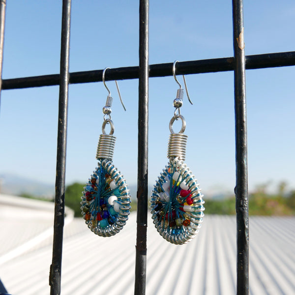 Drop Earrings Not Bombs - Seeds (Mosaic)