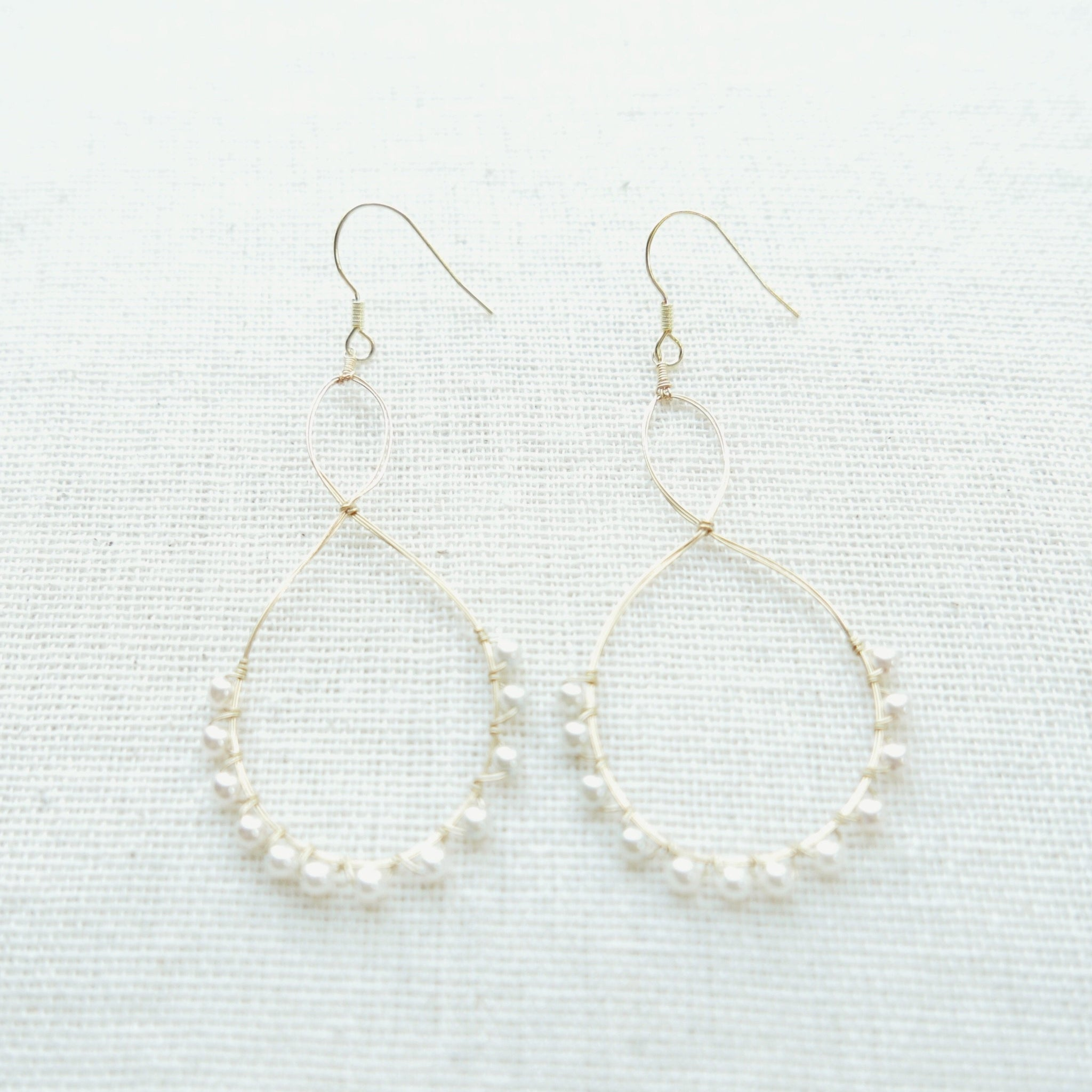 Bottle Earrings (Pearl White)