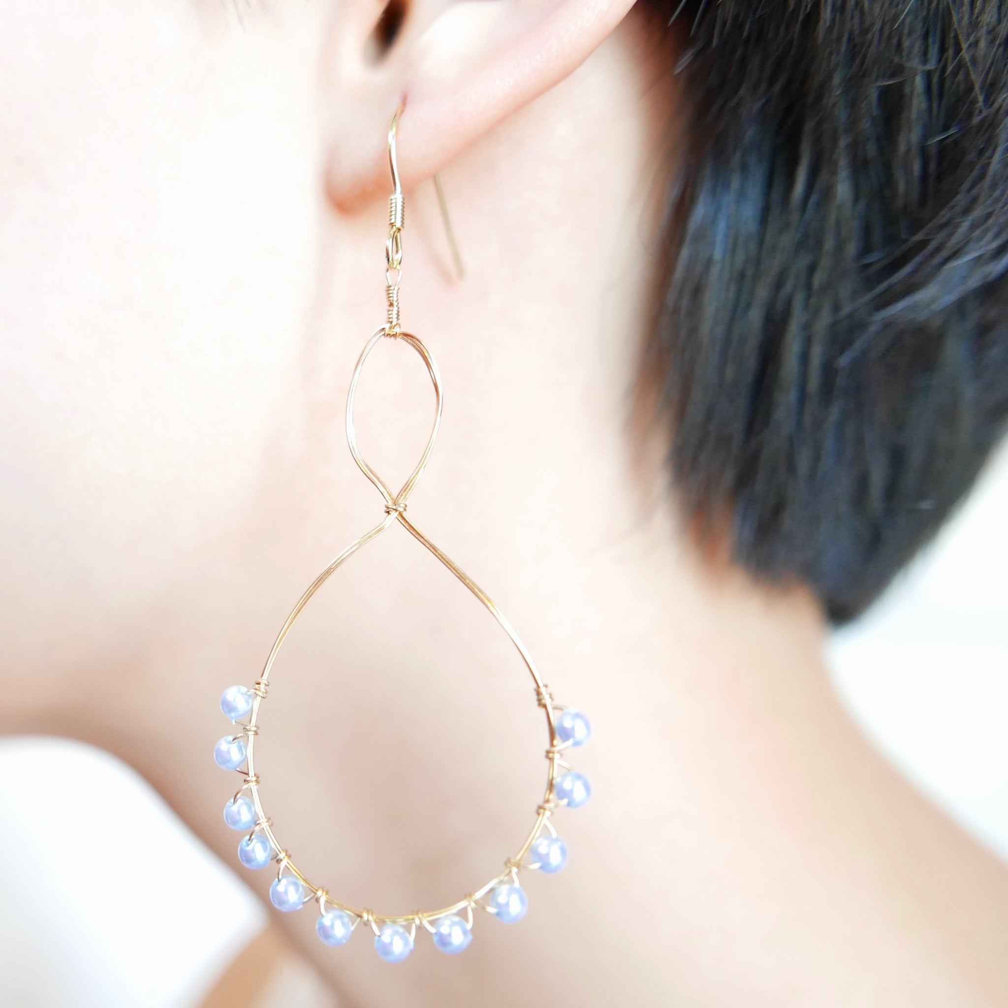 Bottle Earrings (Pale Blue)