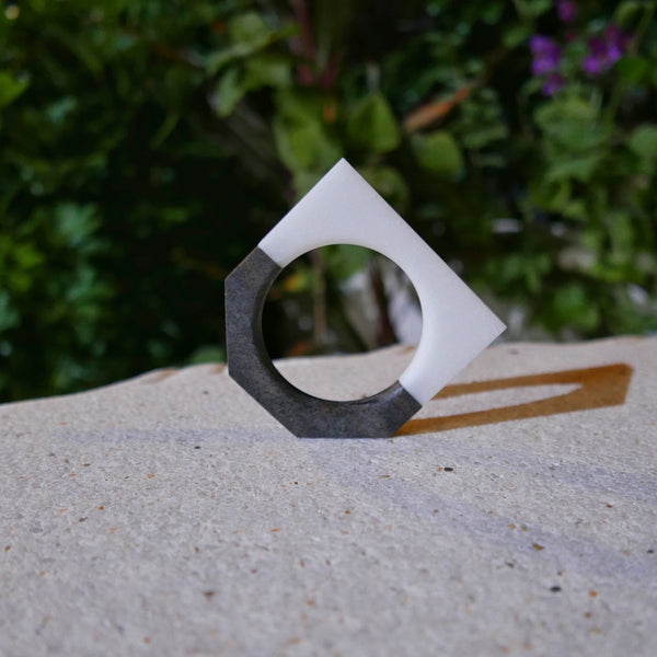 North / South Bracelet (Staff Pick) - Arctic Ice [Square] / Sorrel [5-Sided]