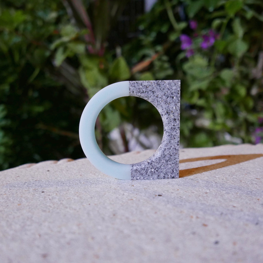 North / South Bracelet (Staff Pick) - Mint Ice [Round] / Platinum [Square]