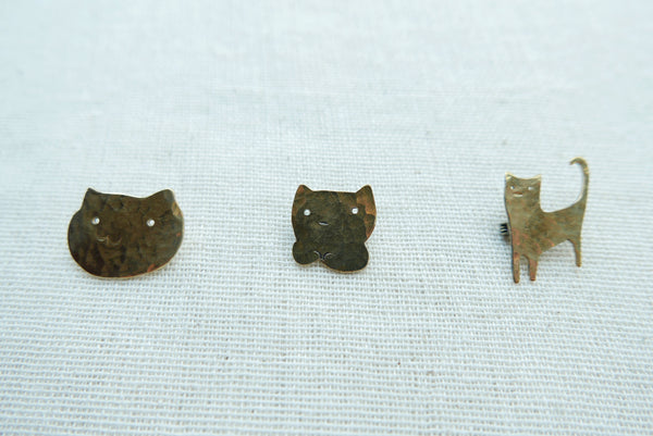 Golden Meow Brooches