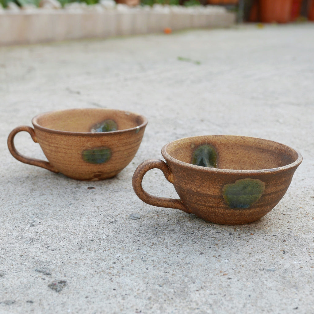 Ceramic Mugs (Green Dots)