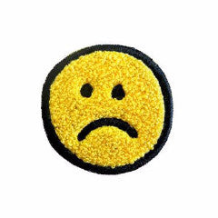 Frown Face Chenille Patch