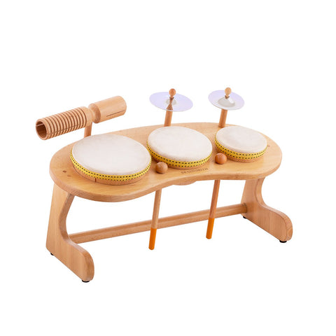 wooden drum set for toddlers and kids
