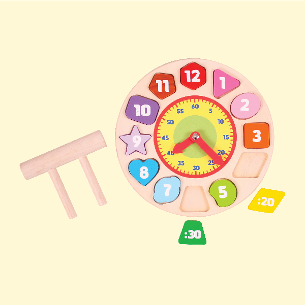 Shape Sorting Clock - Christmas day gifts for kids