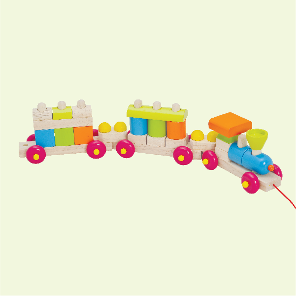 Wooden Construction Train - Christmas gifts for kids