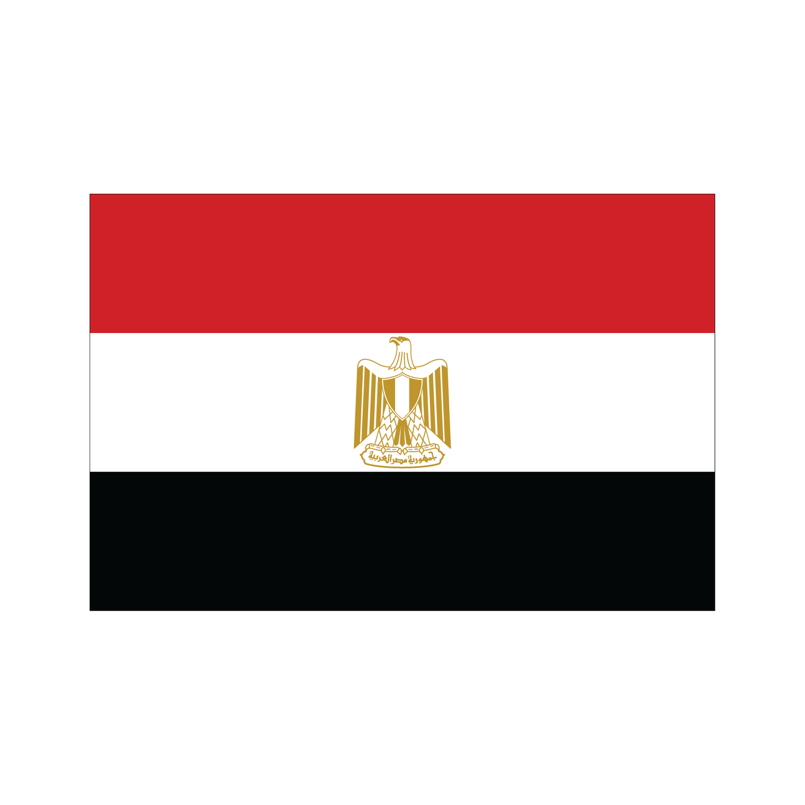 Flags Flashcards for Kids, National Flags, Egypt Flag