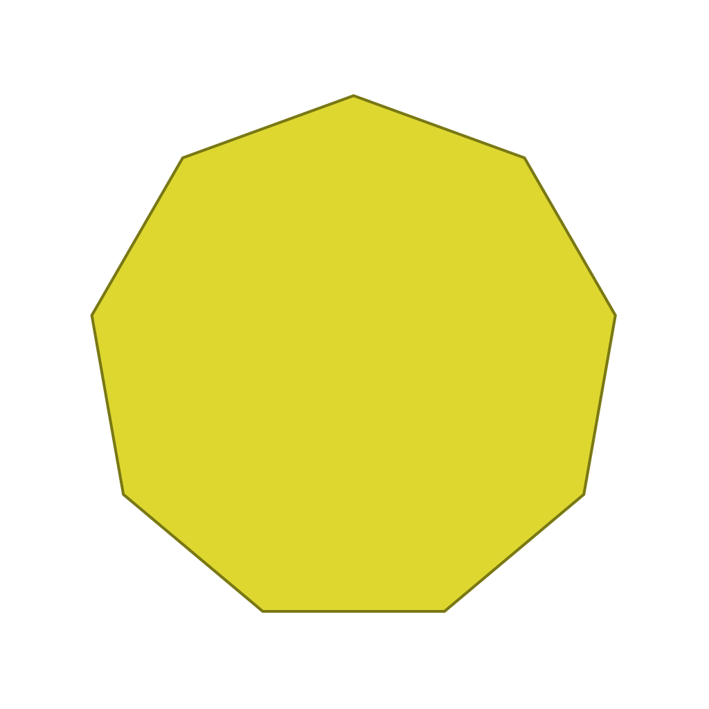 polygons flashcards, geometric shapes flashcards, maths flashcards, nonagon