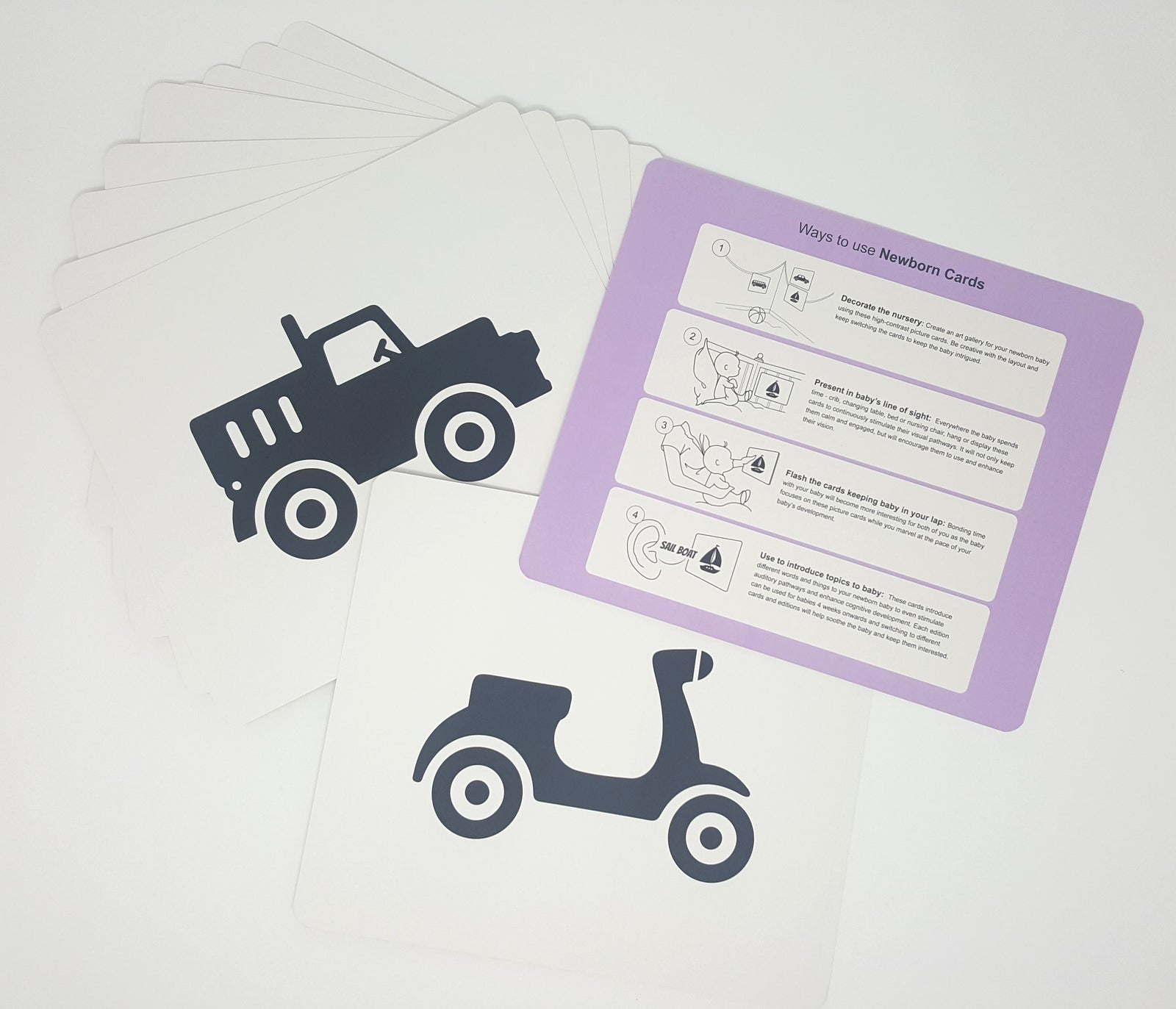 Vehicles Newborn Cards