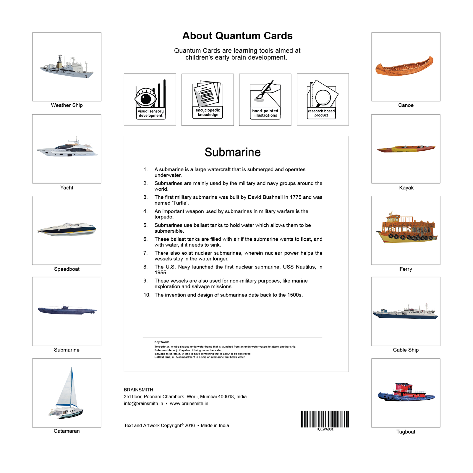 watercraft flashcards for kids