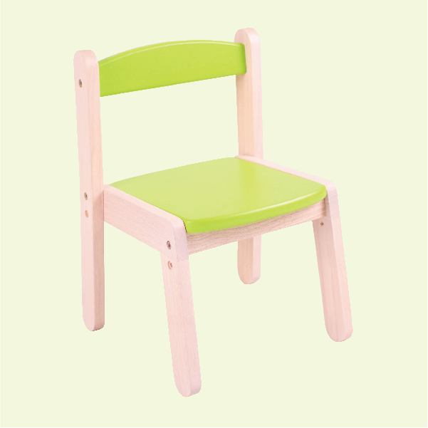 Wooden Stacking Chair - Vibrant Green