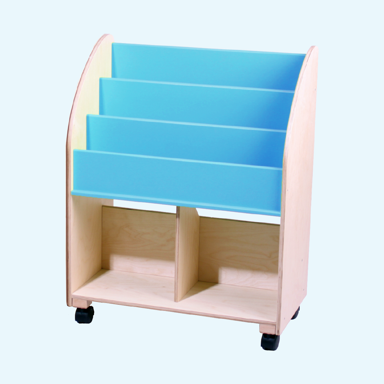 Wooden Bookshelf - Cool Blue