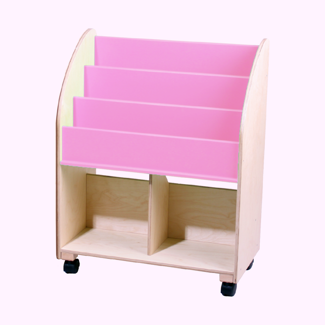 Wooden Bookshelf - Pure Pink