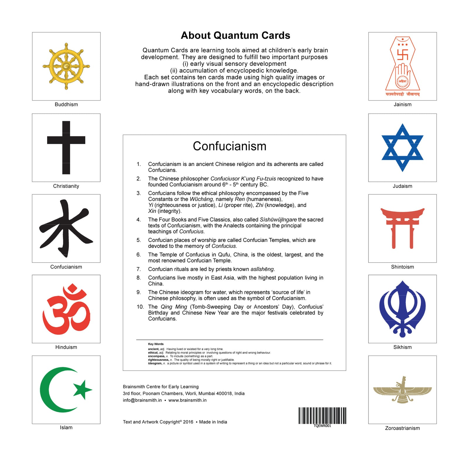 world religions flashcards for kids