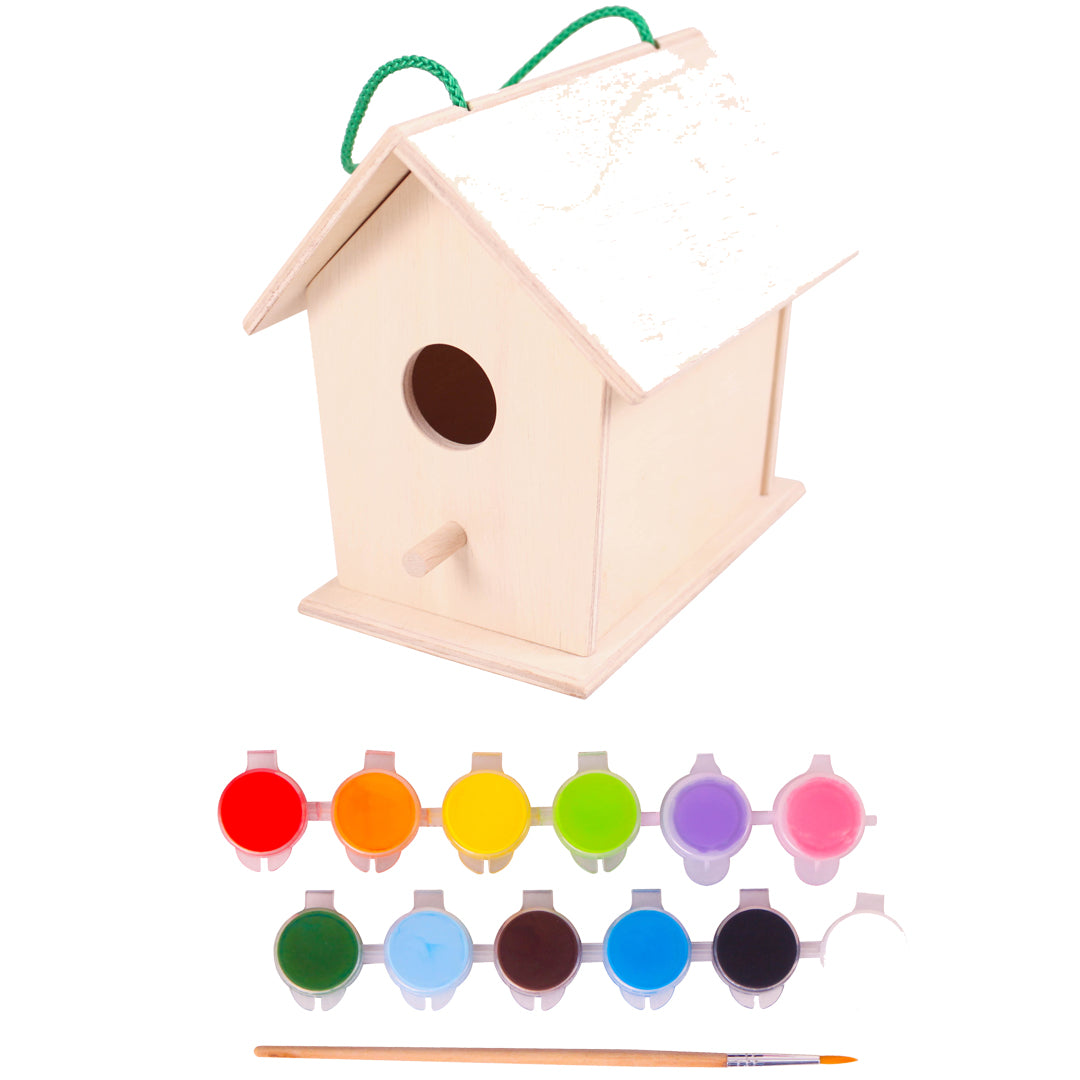 DIY Wooden Birdhouse, diy paint activity