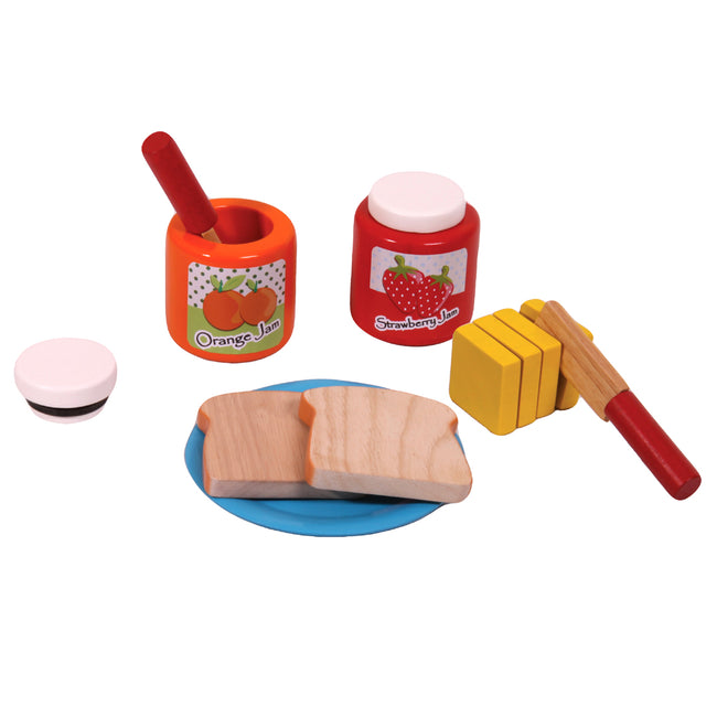 Pretend Play Wooden Toys Bread and Jam Set