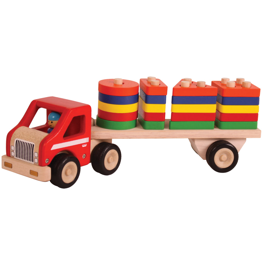 Shape sorting truck, wooden toy