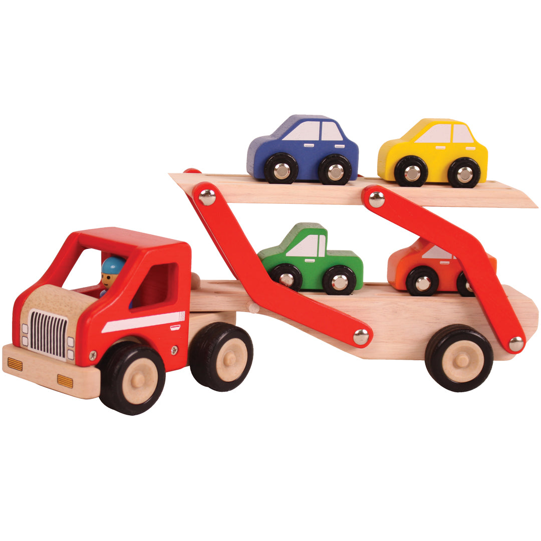 Lorry with cars for kids, wooden truck, wooden toy lorry