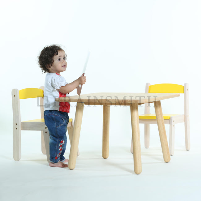 Wooden Stacking Chair - Bright Yellow