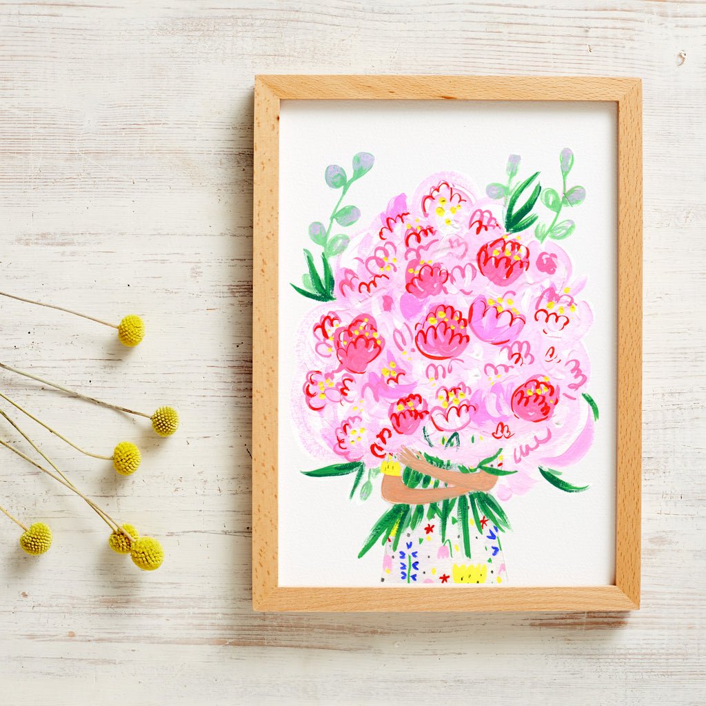 A LOT of Peonies Print