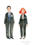 Mulder and Scully (and optional Queequeg) A4 and A3 Prints