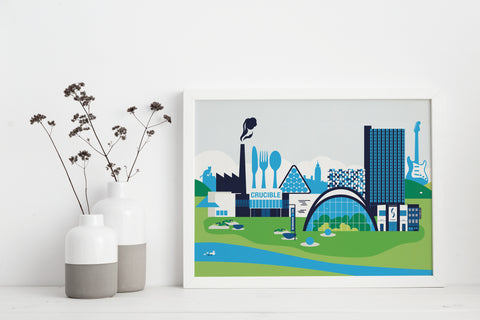 Sheffield City Centre Print