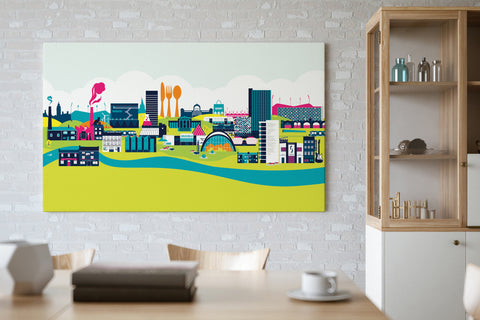 The Sheffield Skyline Bright Print
