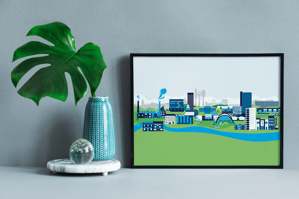 The Sheffield Skyline Print