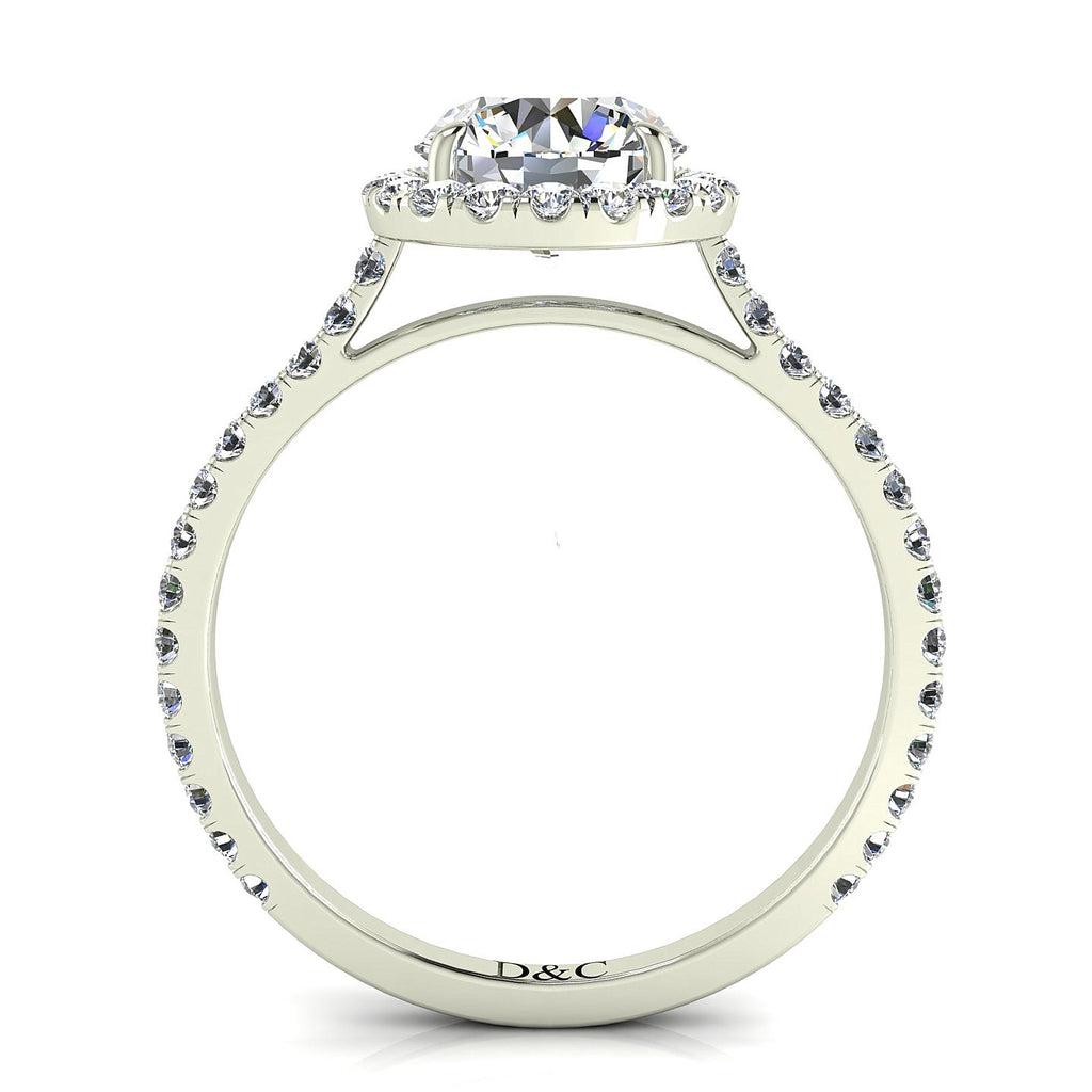 Bague solitaire diamant Camogli-rond 1.40 carat