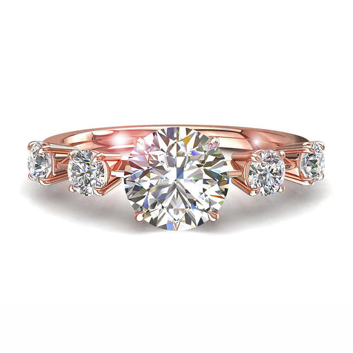 Bague diamants ronds 0.70 carat Serena