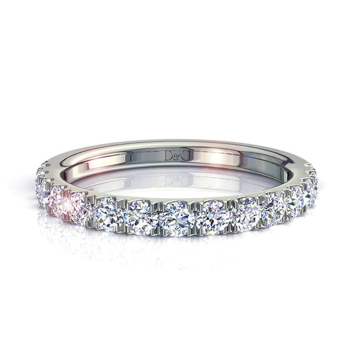 Demi-Alliance mariage 15 diamants ronds 0,60 carat Adelia
