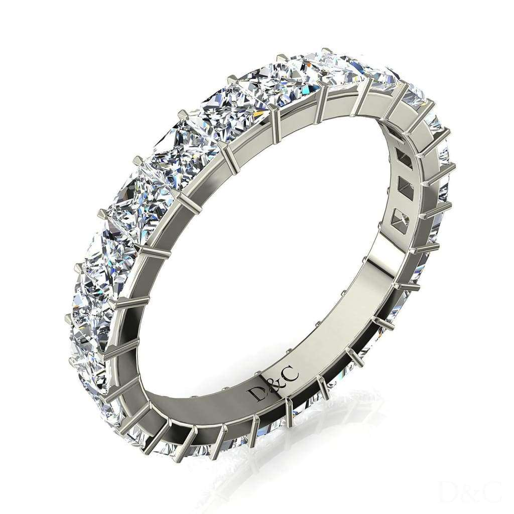 Bague alliance femme or blanc diamant