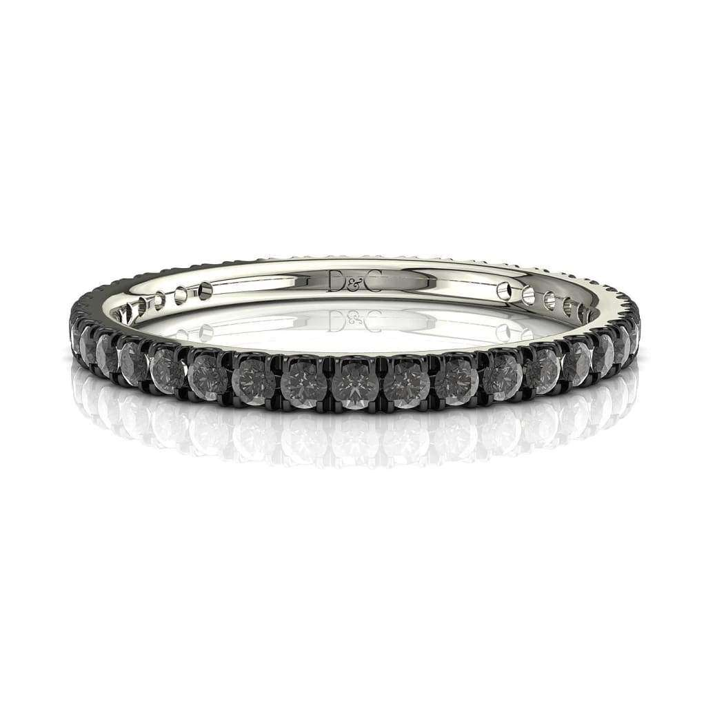 Alliance rhodium noir de 0,33 carats en or blanc Anaïs