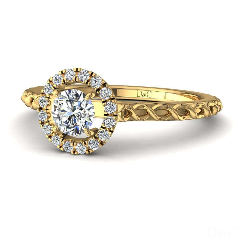 Bague de fiançailles diamants en or jaune 0,20 carat Camila