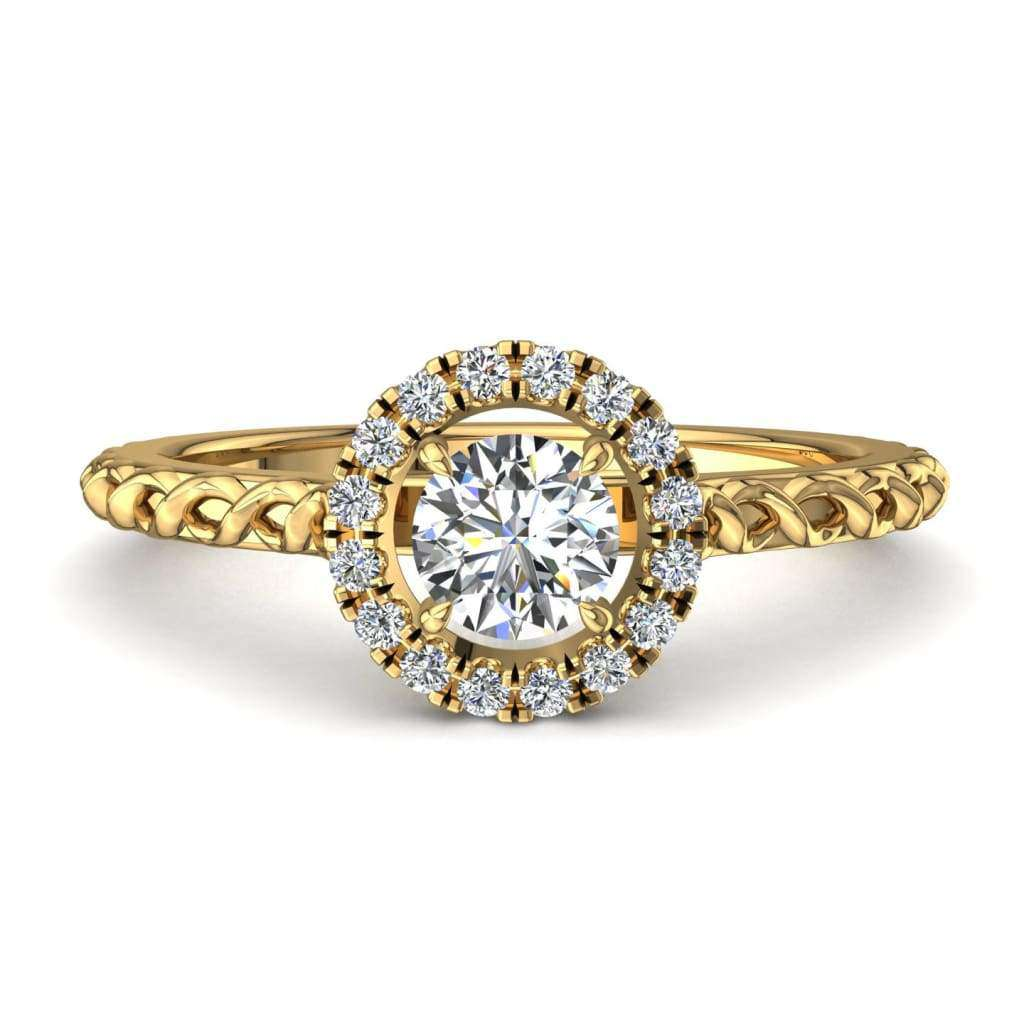 Bague de fiançailles diamants en or jaune 0,15 carat Camila